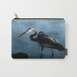 Great Blue On The Rocks Carry-All Pouch
