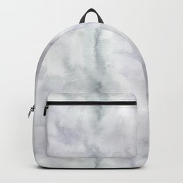 Watercolor lilac violet green abstract brushstrokes Backpack