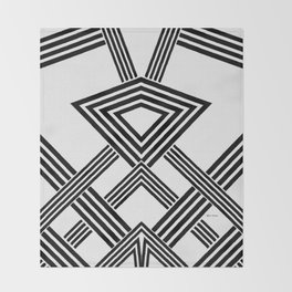 Black and White Diamond Throw Blanket