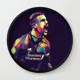 Henderson Liverpool Football Player Wall Clock
