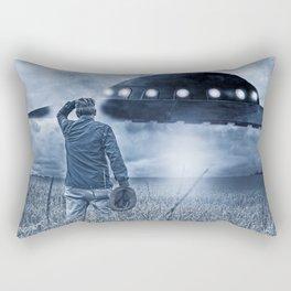 Alien Invasion Cyberpunk Version Rectangular Pillow