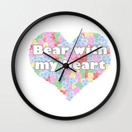 Bear with my heart Wall Clock