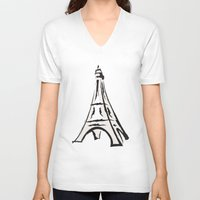 french V-neck T-shirts featuring French by jssj
