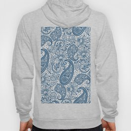 Blue ethnic ornate floral paisley pattern Hoody
