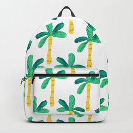Watercolor Palm Trees in Yellow Backpack