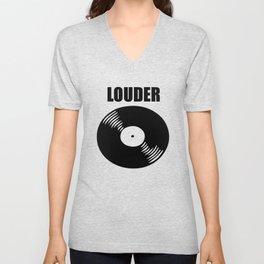 louder music logo Unisex V-Neck