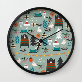 Everybody's waiting for Santa Wall Clock