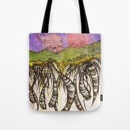 Another day on the floating island Tote Bag