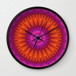 Hell mandala Wall Clock
