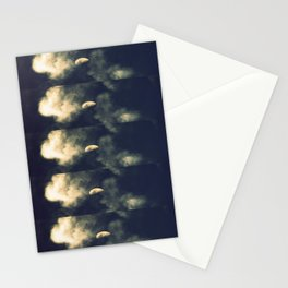 Phased Waxing Gibbous Stationery Cards