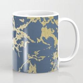 Kintsugi Ceramic Gold on Indigo Blue Coffee Mug
