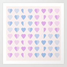 AFE Abstract Heart Shapes Art Print