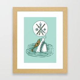 The Ninja Shark Framed Art Print