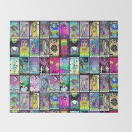 Tarot Major Arcana Throw Blanket