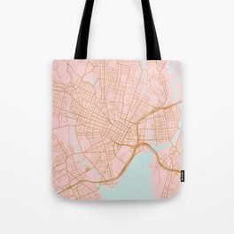New Haven map, Connecticut Tote Bag
