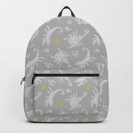 Scorpio Moon on Grey Backpack