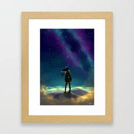 Stargazing Artwork Framed Art Print