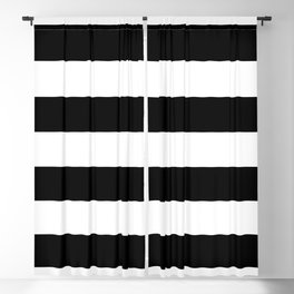 Stripe Black & White Horizontal Blackout Curtain