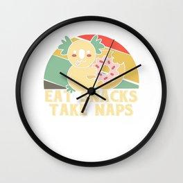 Eat snacks take naps - Koala Koala bear Wall Clock