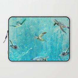 Swimming Turtles Laptop Sleeve