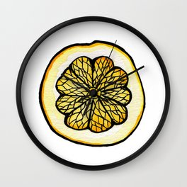 Trois Citrons 1 Wall Clock