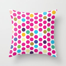 dots and circles Throw Pillow