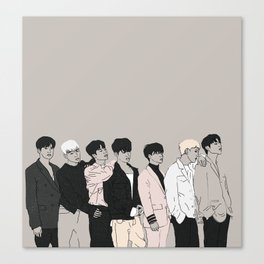 iKON Goodbye Road Drawing Canvas Print