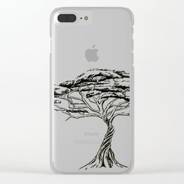 Whistling Thorn , Zen Bonsai African Tree Clear iPhone Case
