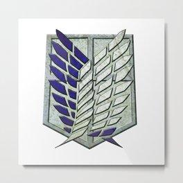 attack on titan logo Metal Print