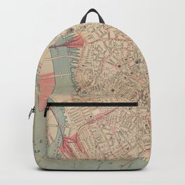 Vintage Map of Boston MA (1882) Backpack