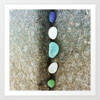Beach Glass Gradient Art Print