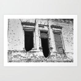 Ruined windows Art Print