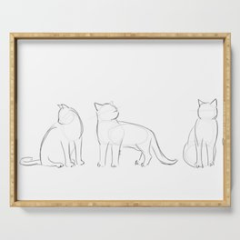 cat contours Serving Tray
