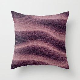 Sand_Ripples - Eggplant Throw Pillow