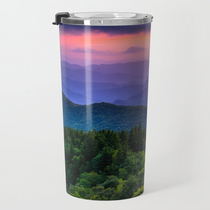 Sundown from Cowee Mountains Landscape Travel Mug