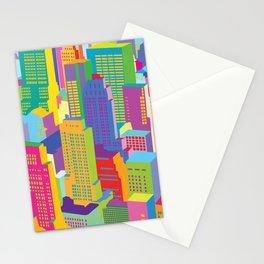 Cityscape windows Stationery Cards