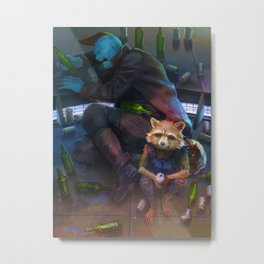 Rocket's drunk buddies Metal Print