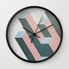 Linear Geometry Wall Clock