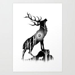GIANT ELK Art Print