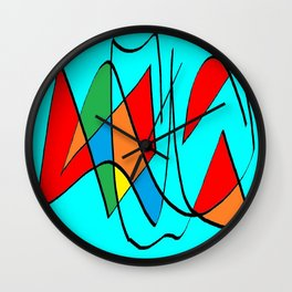 Abs blue multicolor Wall Clock