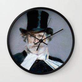 Giuseppe Verdi (1813 – 1901) by Giovanni Boldini (1842 - 1931)(2) Wall Clock
