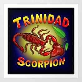 Trinidad Scorpion Red Art Print