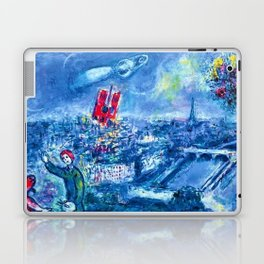 View of Paris by Marc Chagall Laptop & iPad Skin