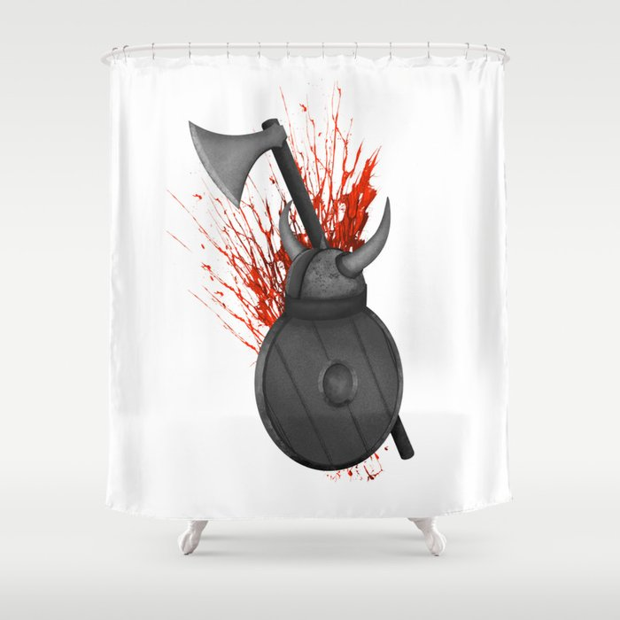 Viking Shower Curtain By Mailboxdisco
