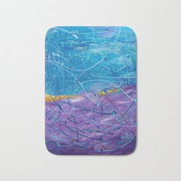 Purple/Blue Abstract Bath Mat