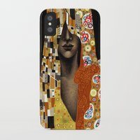 klimt iPhone & iPod Cases featuring Klimt Me by Estúdio Marte
