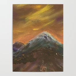 Sunset Mountains Poster