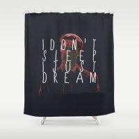 true detective Shower Curtains featuring true detective 2 by Molnár Roland