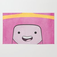 princess bubblegum Area & Throw Rugs featuring Princess Bubblegum by Some_Designs