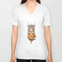 lantern V-neck T-shirts featuring Lantern by About Time Mr Wolfe